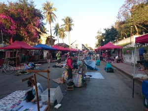 Night market preparation