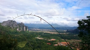 Vang Vieng from Phangern Mountain
