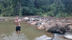 Refreshing above Pasuam waterfalls