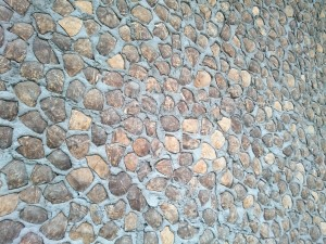 Wall from coconut shells