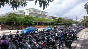 Where to park a motorbike