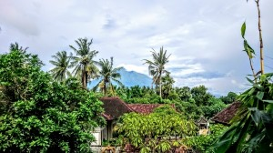 Mt Agung from our hotel room