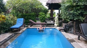 In the swimming pool :-)