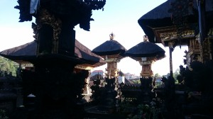 Temple at our homestay in Ubud