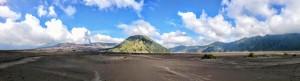 Sand field panorama